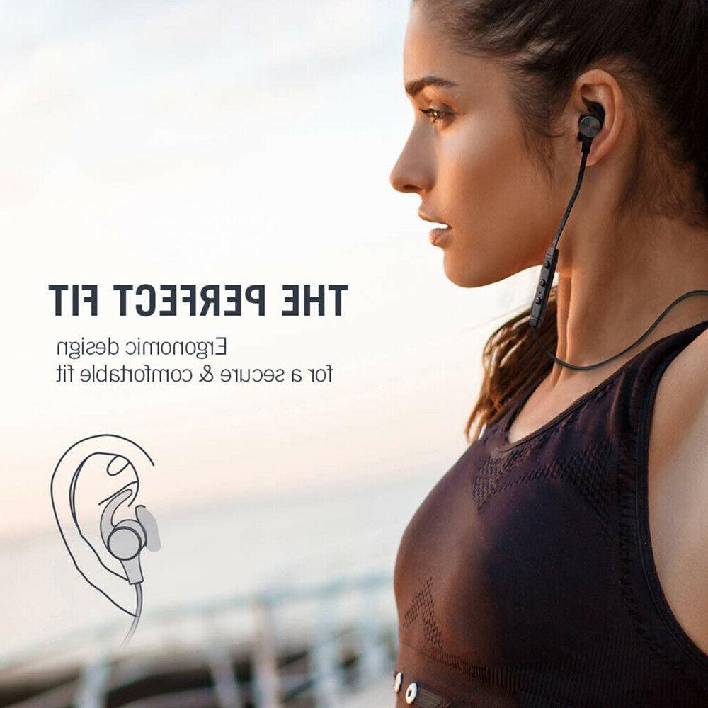 TaoTronics Waterproof Sport Bluetooth Headset Wireless Headphones In-Ear Earbuds