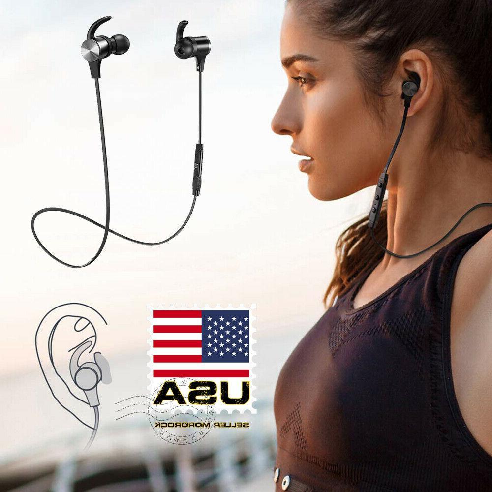 waterproof sport bluetooth headset wireless headphones in