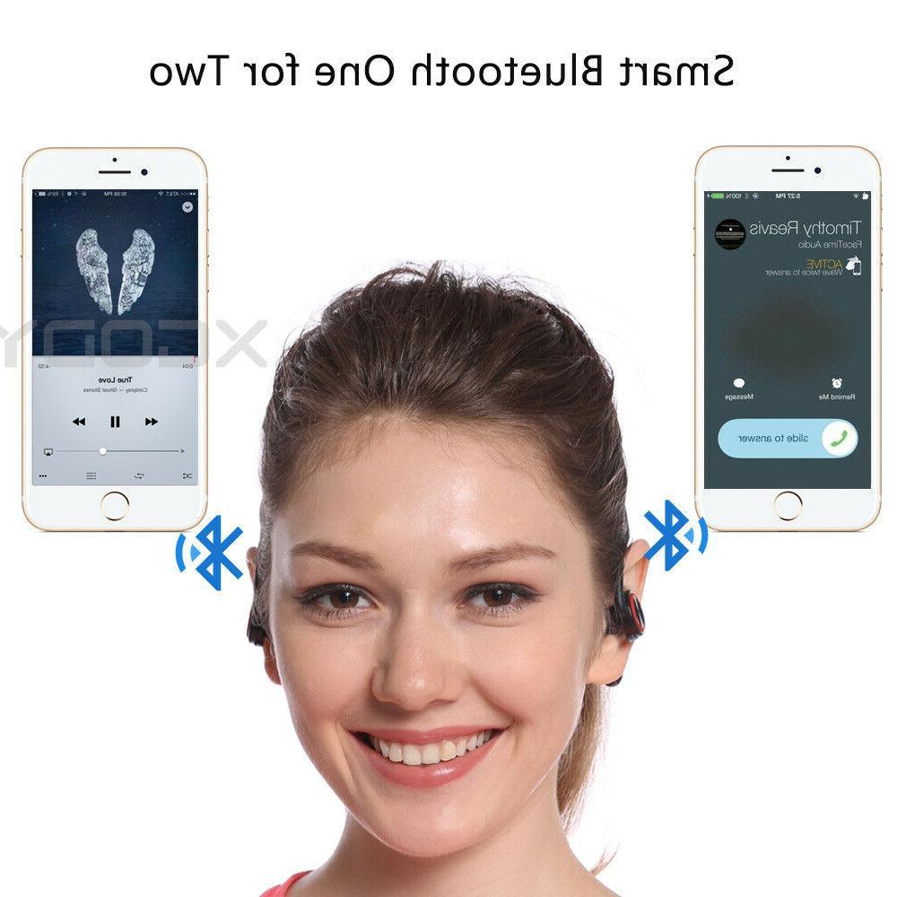 Waterproof 5.0 Headphone Sports Earpiece Bass