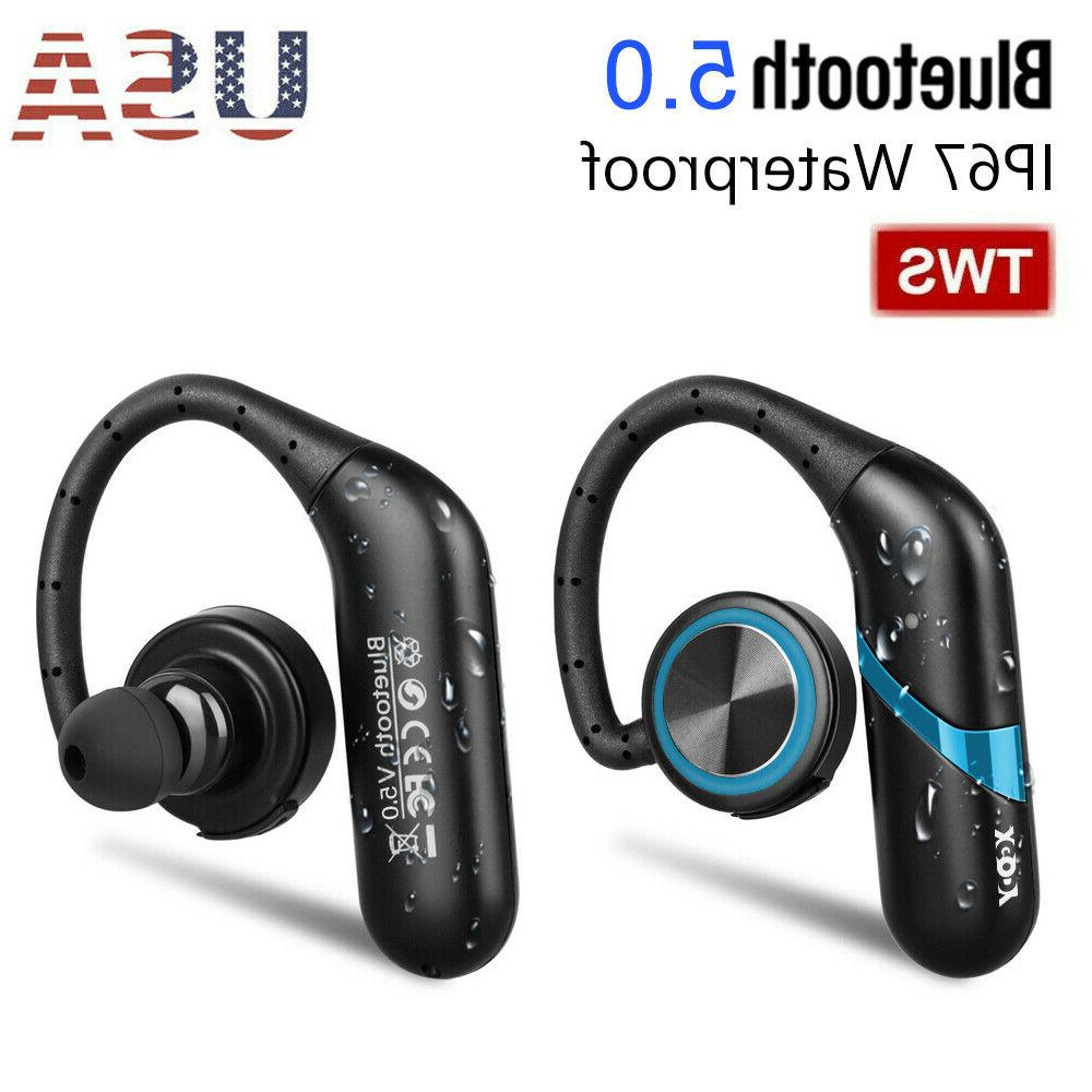 waterproof wireless earbuds bluetooth 5 0 headphone