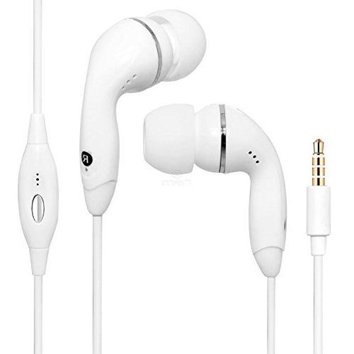 white audio earphone headphones headset