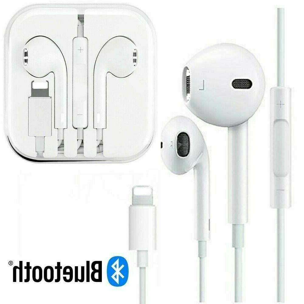 Wired Bluetooth Earphones Earbuds iPhone 7 Plus w/Remote