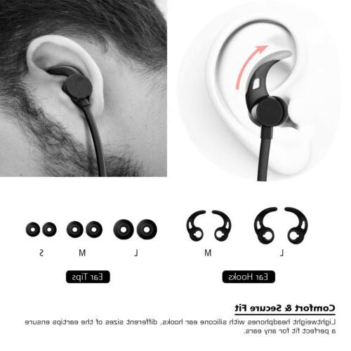 Wireless Bluetooth 4.1 Active Noise Cancelling Earphone Sports