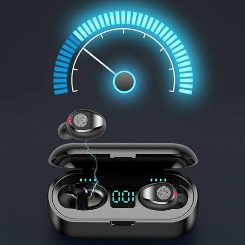 Waterproof Bluetooth Earbuds Headphones Wireless smart touch LCD Headset