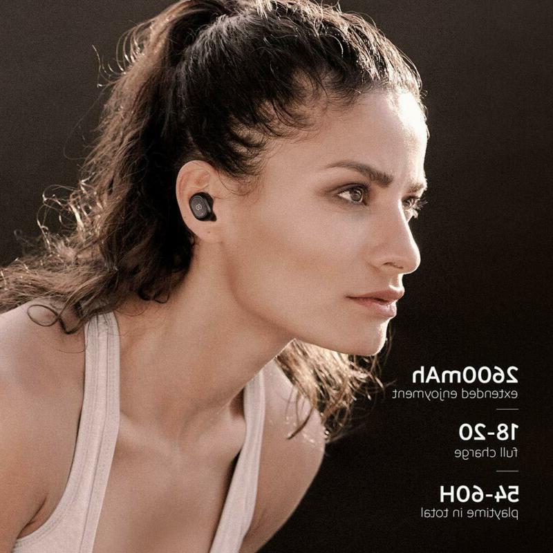 Wireless Earbuds Charging Mic Black