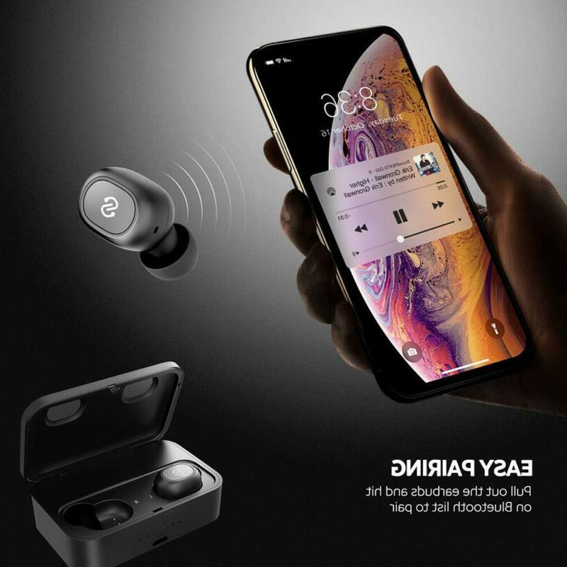 Wireless Bluetooth Earbuds Charging Mic