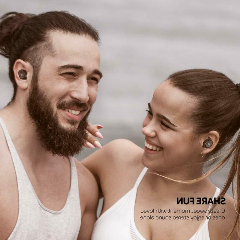 Wireless Bluetooth Earbuds 2600mAH Charging Mic