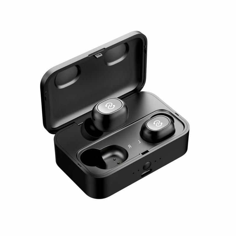 wireless bluetooth earbuds 2600mah charging case built