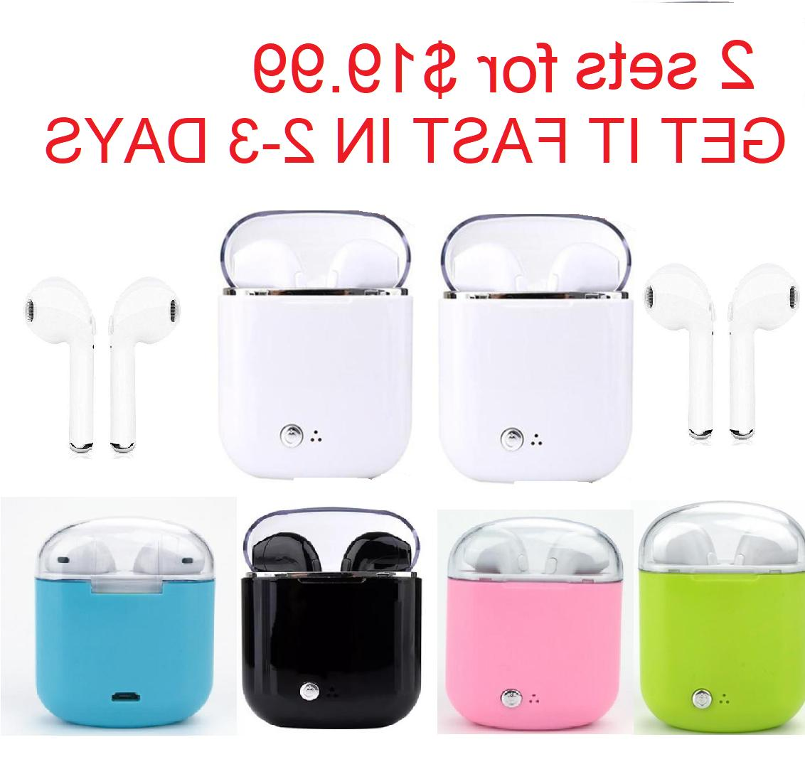 wireless bluetooth earbuds earphone headset with charging