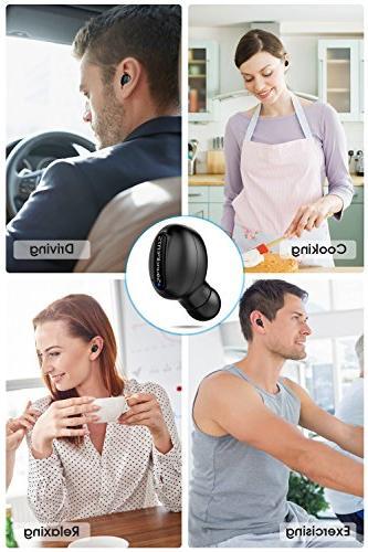 Wireless Bluetooth Earbuds Sweatproof Single with Magnetic In Ear Earphone Mic