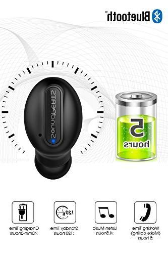 Wireless Sweatproof Single Headphone with Magnetic In Ear Earphone Mic