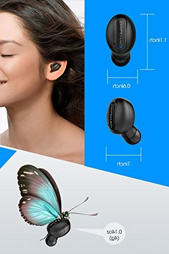 Wireless SoundPEATS Sweatproof Single Bluetooth Headphone with USB In Ear Earphone with Mic