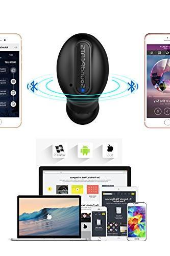 Wireless Earbuds SoundPEATS Sweatproof Bluetooth with In Ear Mic