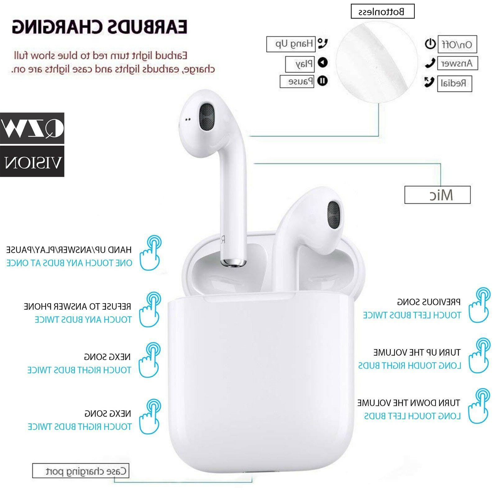 Wireless Earbuds Headphone Earpods iPhone X