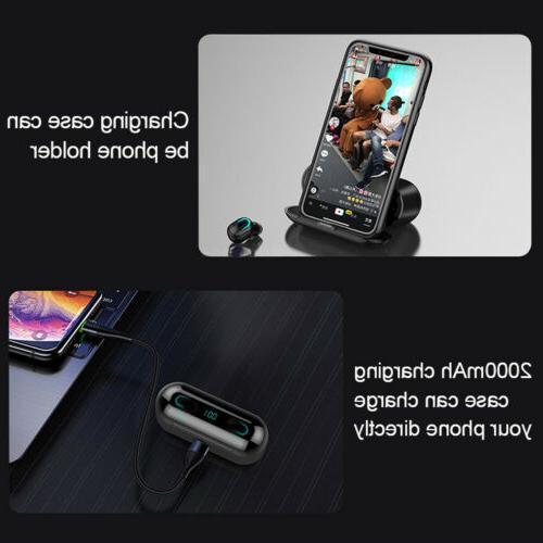 Wireless Bluetooth Earphone TWS Q32 Headset Power Stereo