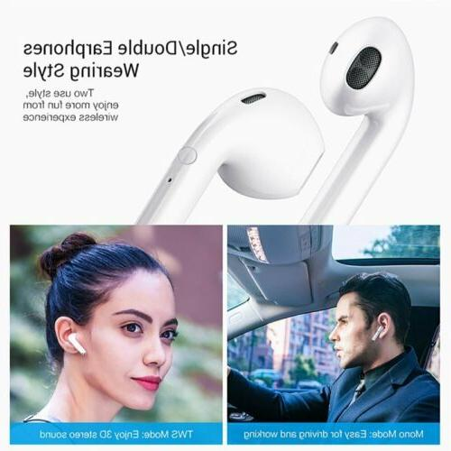 Wireless Bluetooth Earphones Earbuds For iPhone Samsung Android