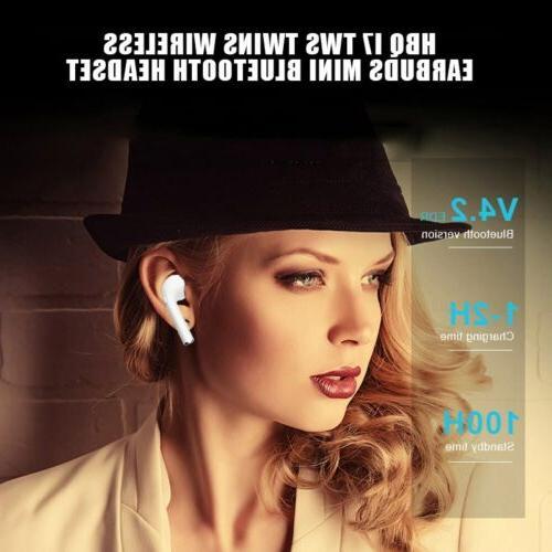 Wireless Earphones Headphone Earbuds Apple w/ Charging
