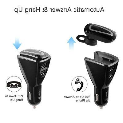 Wireless Bluetooth Handsfree Charger Kit + Earbud Earphone Headset