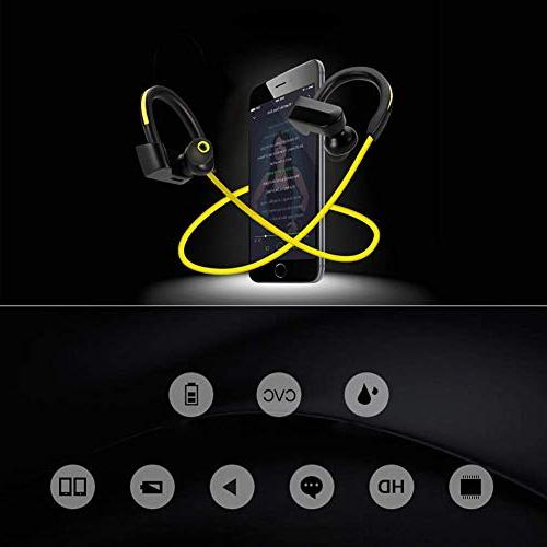 GRMN Bluetooth Sport Headset Earphone Wireless with Microphone