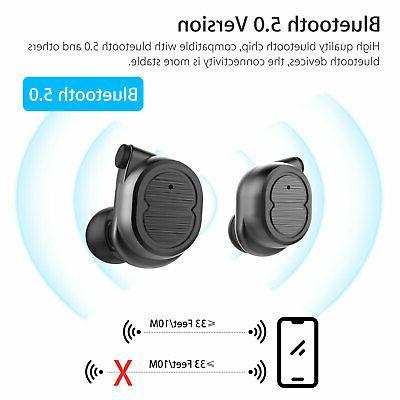 True BT 5.0 Earbuds Wireless Headset Headphone