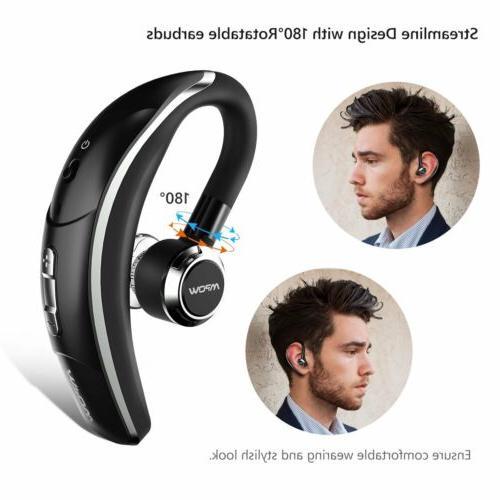 Mpow Bluetooth Headset Stereo Earbuds Earphone Trucker Handsfree Mic
