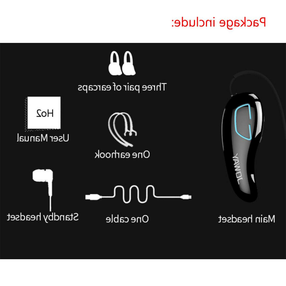 Wireless Bluetooth Stereo Handsfree Headset Cell