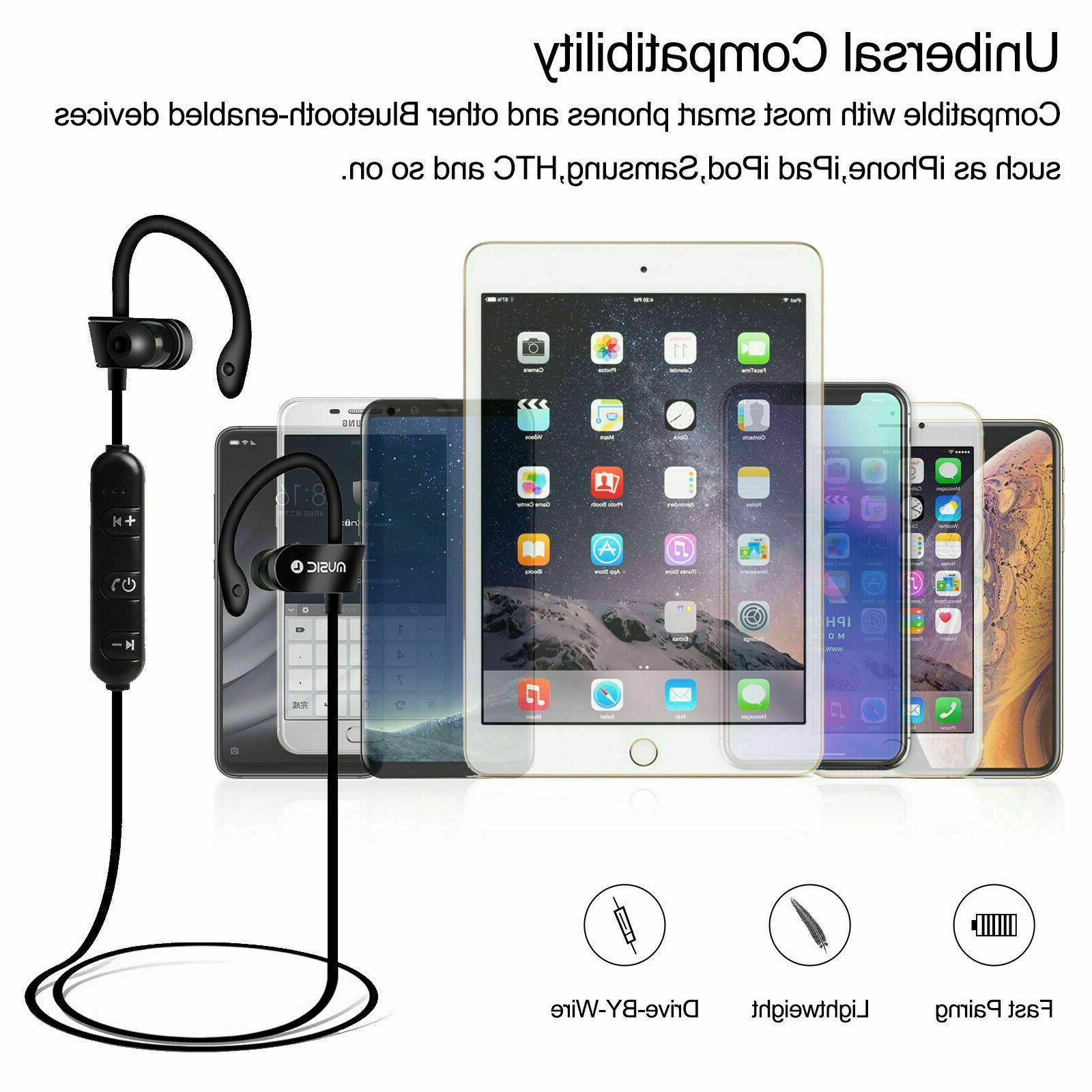 Wireless Bluetooth Sport Gym Headphones with