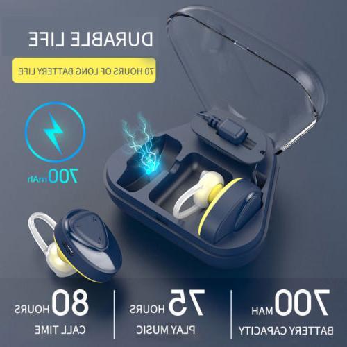 wireless dual mini true bluetooth earbuds stereo