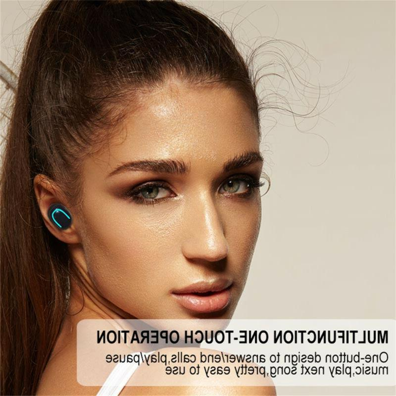 Ture Wireless Bluetooth 5.0 Sport Earbuds Headset With Power