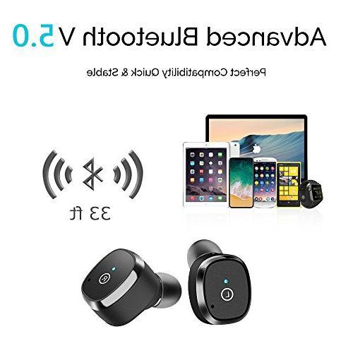 Wireless OYRGCIK Bluetooth Headphones Headset Microphone Free Sweatproof Earphones Box/Case Android