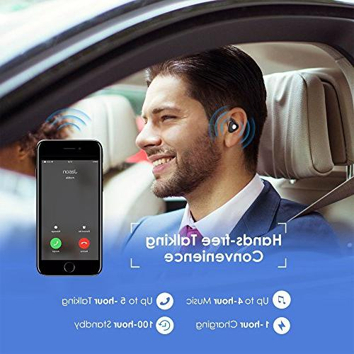 Wireless Earbuds, Cshidworld In Cancelling Earphones Sweatproof V4.2 and iPhone Phones