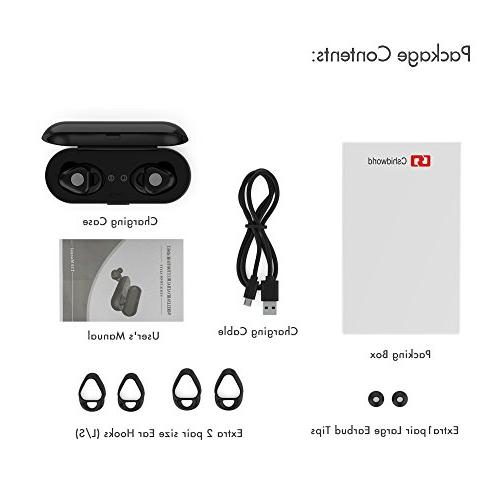 Wireless Earbuds, Dual Bluetooth Headphones In Cancelling V4.2 Built-in Mic and Charging Case iPhone