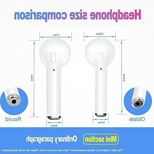 Wireless Bluetooth Headphones Headsets in-Ear Earphones Built-in Mic and Case