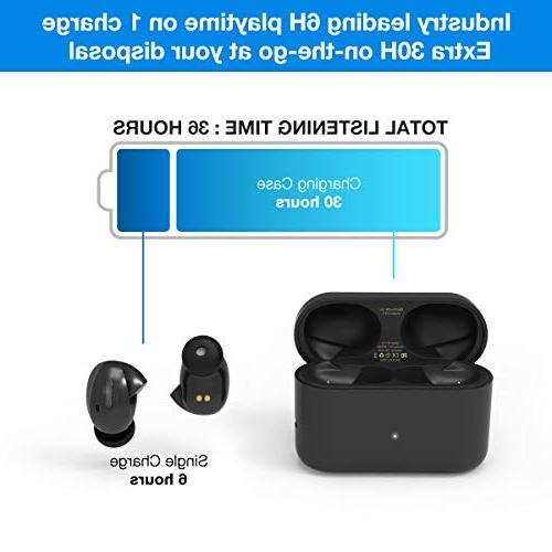 True Wireless 5.0 Earbuds Playtime Bass Stereo Sound, Support Binaural Sweatproof with Charge