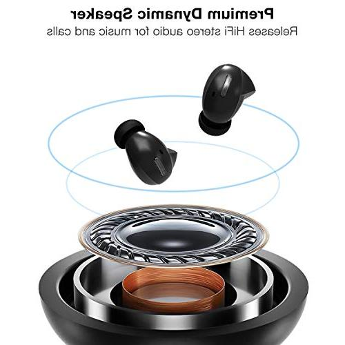 Wireless True Bluetooth Earbuds 36 Playtime Sound, Binaural Call with Noise Reduction, Sweatproof Case