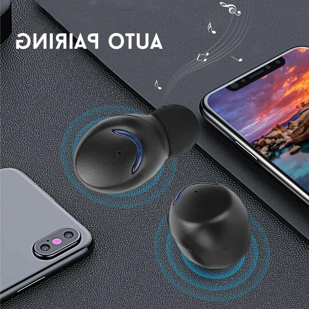 Wireless Bluetooth Earbuds Bass Ear Buds Headphones
