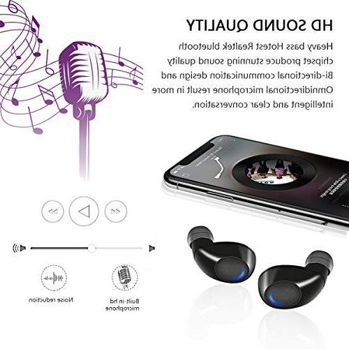 Wireless 5.0 True Wireless Playtime Deep HD Sound Mic