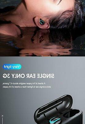 Wireless Earbuds 5.0 TWS Waterproof Earphones iPhone IOS