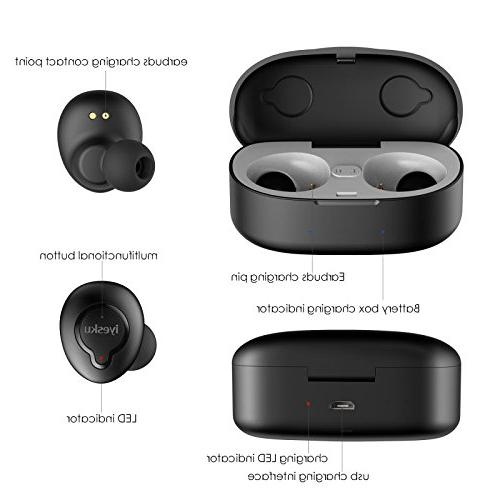 True Wireless Bluetooth Headphones with Charging Sound Noise Mini Sports Headset