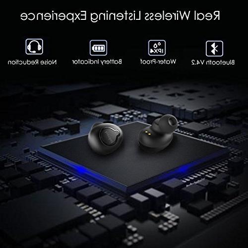 True Bluetooth Headphones Charging Case Sound Earphones Sports