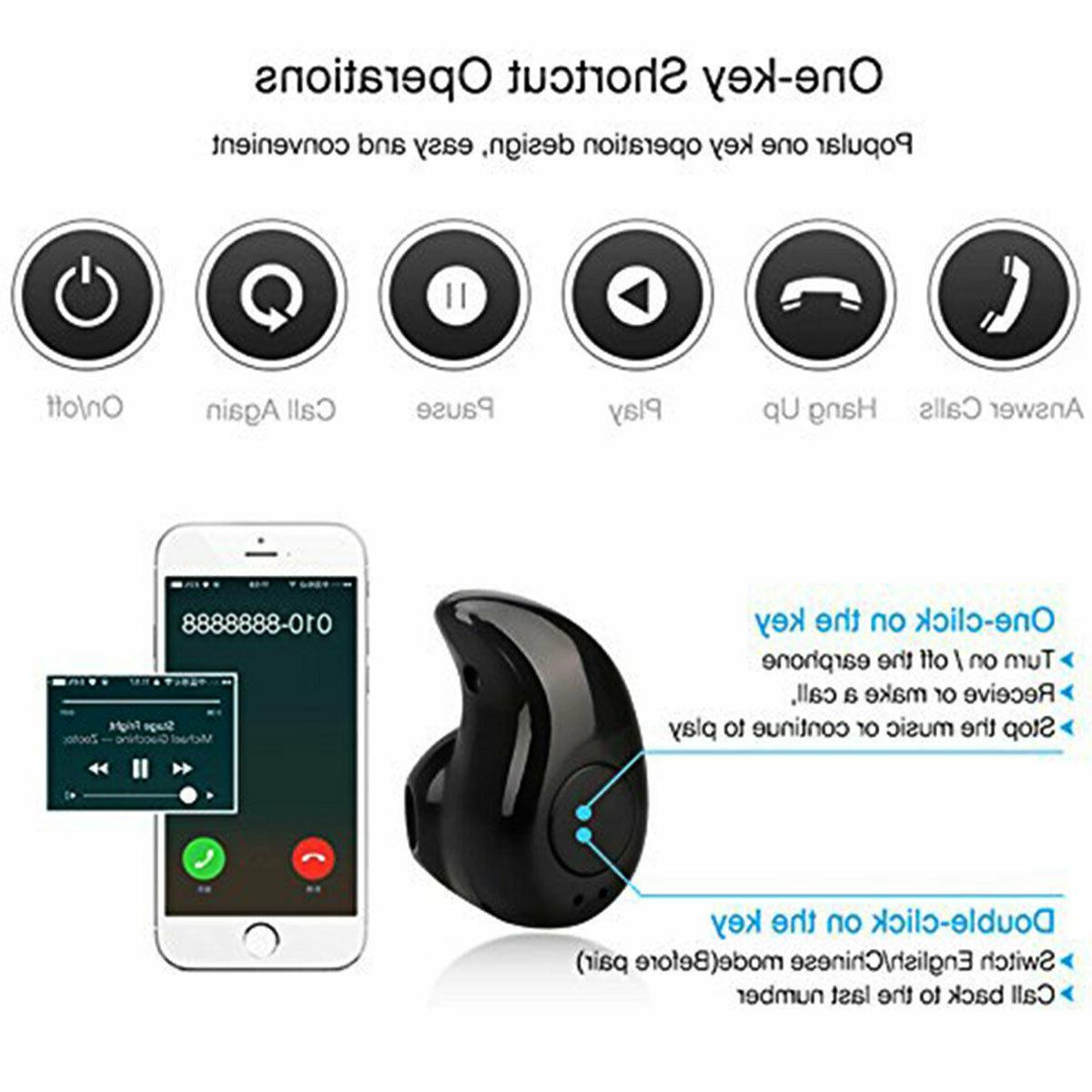 1X Wireless Bluetooth 4.1 Headphones Buds For
