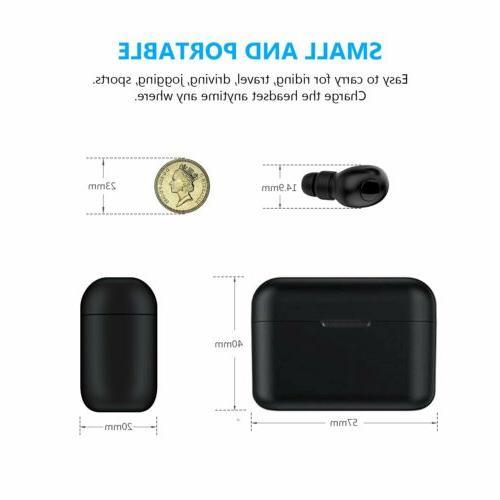 Wireless Bluetooth Headphones Sweatproof with Mic &