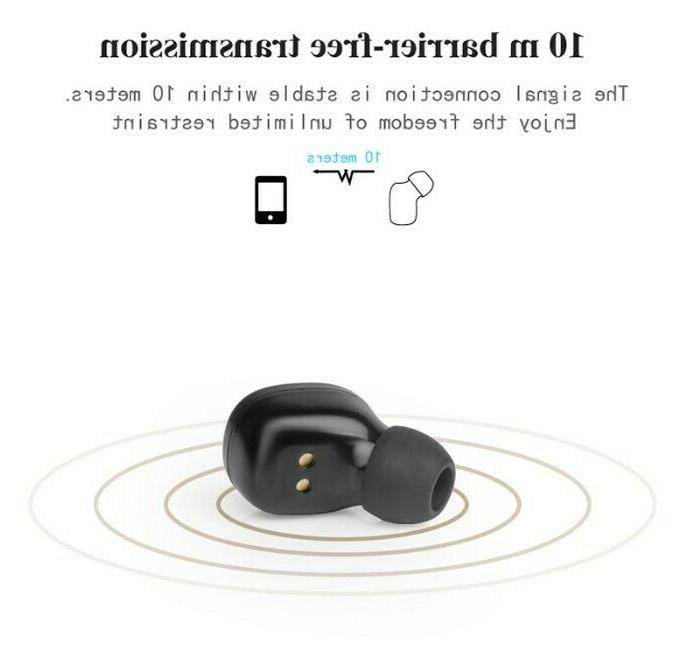 Wireless Earbuds Bluetooth V5.0 Headphones with Box & Mic
