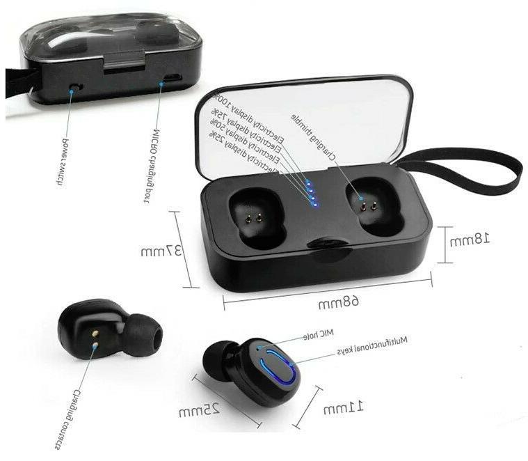 Wireless Bluetooth Headphones Charging Case Box