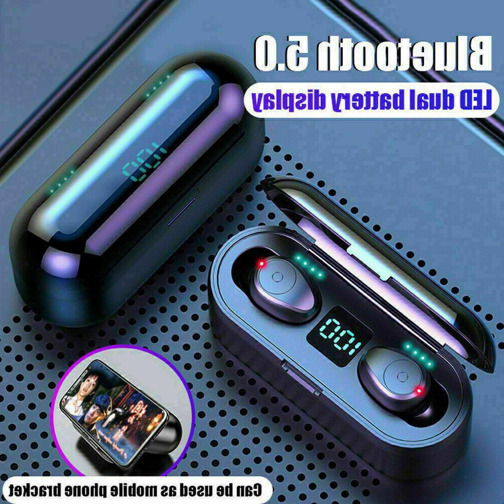 Wireless Earbuds Bass Earphones Noise Waterproof bluetooth buds