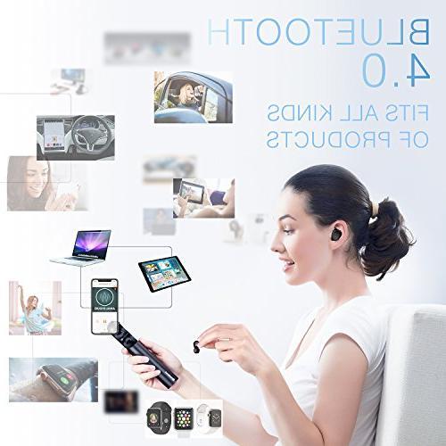 Wireless Bluetooth Headphones Noise Mini Headset IPX5 Sweatproof Invisible Ear Earphones with Built-in Mic IPhone Smartphones Laptop