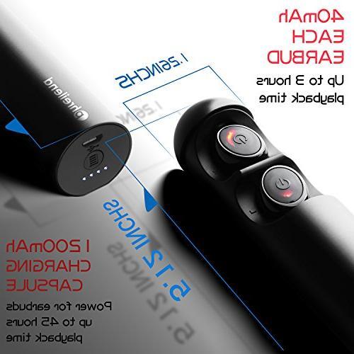 Wireless Bluetooth Headphones Noise Mini Sweatproof Invisible Earphones Built-in for Smartphones Laptop