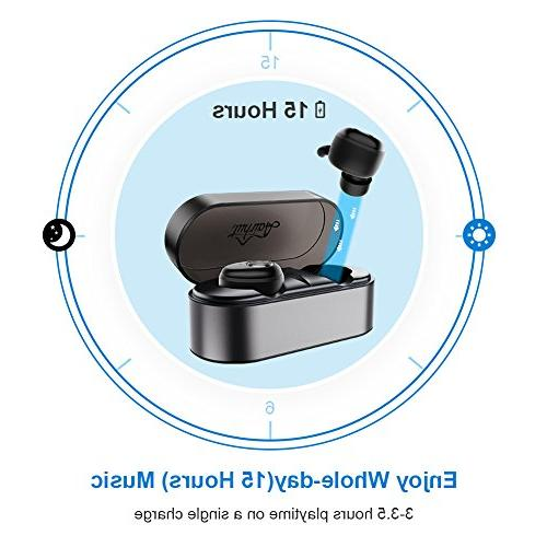 Wireless Upgraded AairHut A2 Stereo 3D Wireless Hour Playtime with Charging Case Playtime Mono with