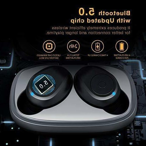 Wireless Upgraded 5.0 Bluetooth Hours T2