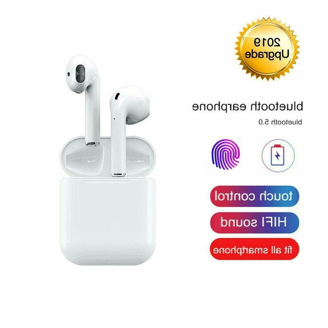 wireless earbuds w charging case bluetooth headphones